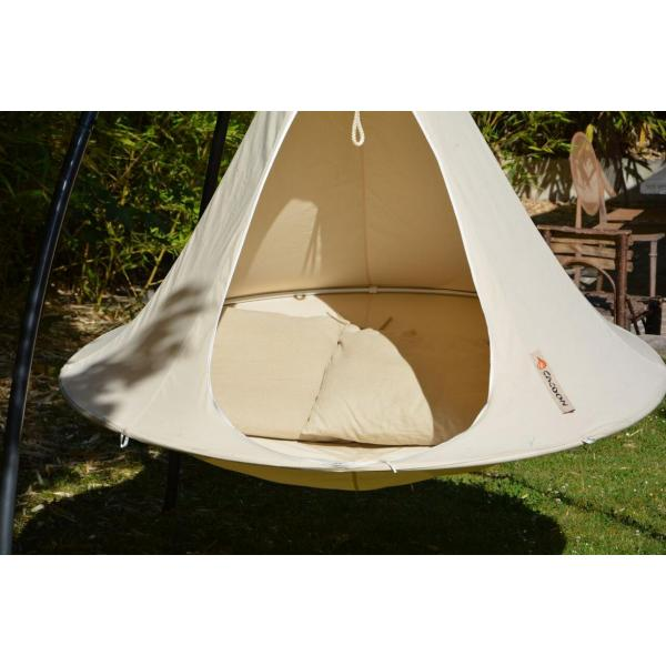 Hamac Cacoon double - blanc naturel