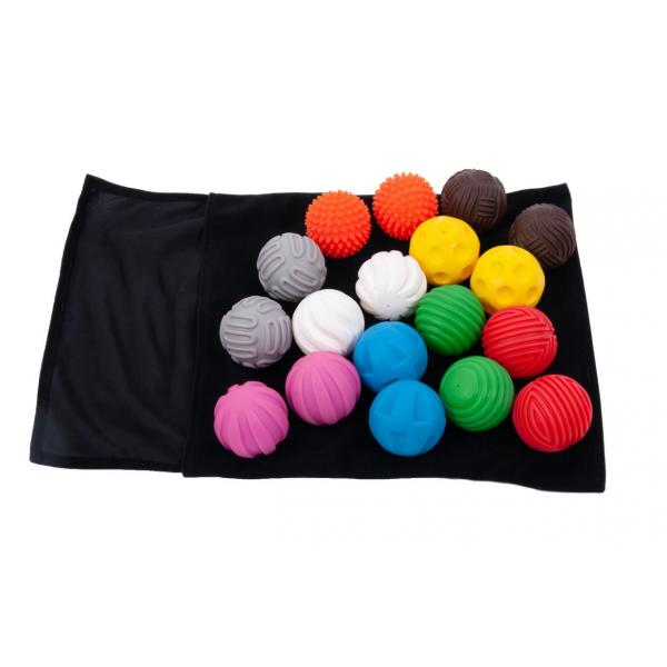 Tactiles balles - lot de 18