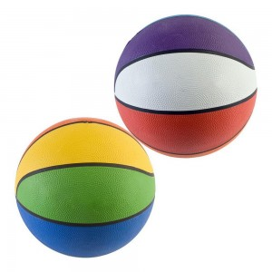 Ballon de basket multicolore