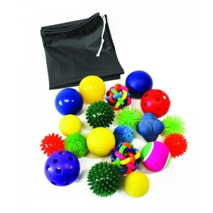Assortiment balles sensoriellles - lot de 20
