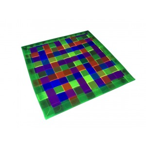 Tapis UV finition PVC angles arrondis 30x30 cm